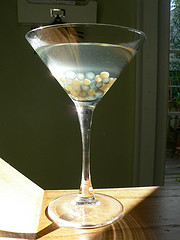 """Caviar"" Martini for Halloween"
