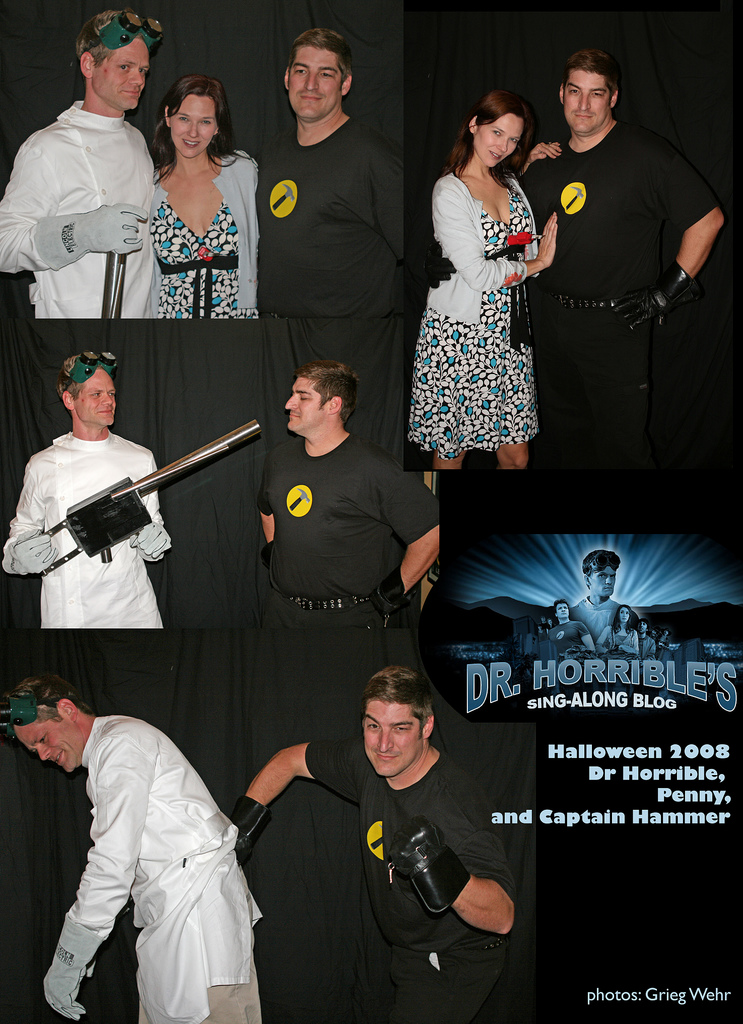 Dr Horrible montage, halloween party 2008