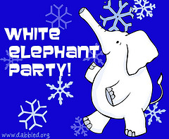 White Elephant Party Invitation graphic, opt 1