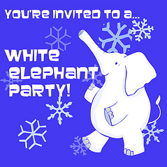 White Elephant Party IInvitation graphic, opt 2
