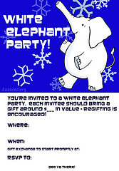 White Elephant Party Invitation full