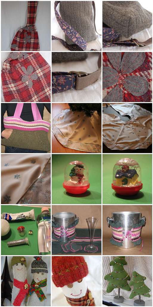 Entrants in the Dabbled Holiday Upcycling Contest