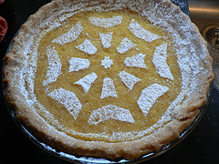 Decorating the Lemon Pie - After Sugar