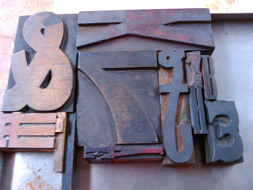 Wood Type for my first letterpress project