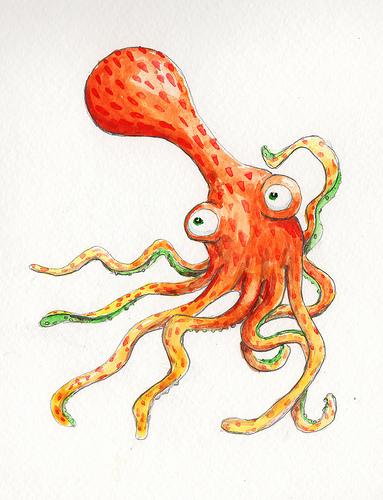 Cedric the Orange Octopus