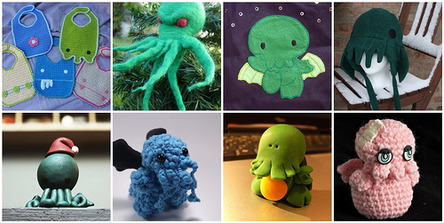 Crafty Cthulhus from around flickr