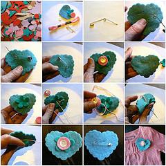 tutorial - Make a Felt Heart/Flower Pin
