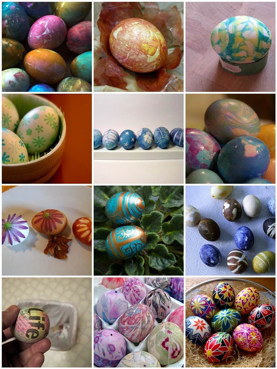 Collection of Creatively Dyed Easter Eggs from around flickr