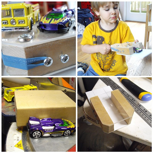 Making a Hot Wheels Car Launcher!