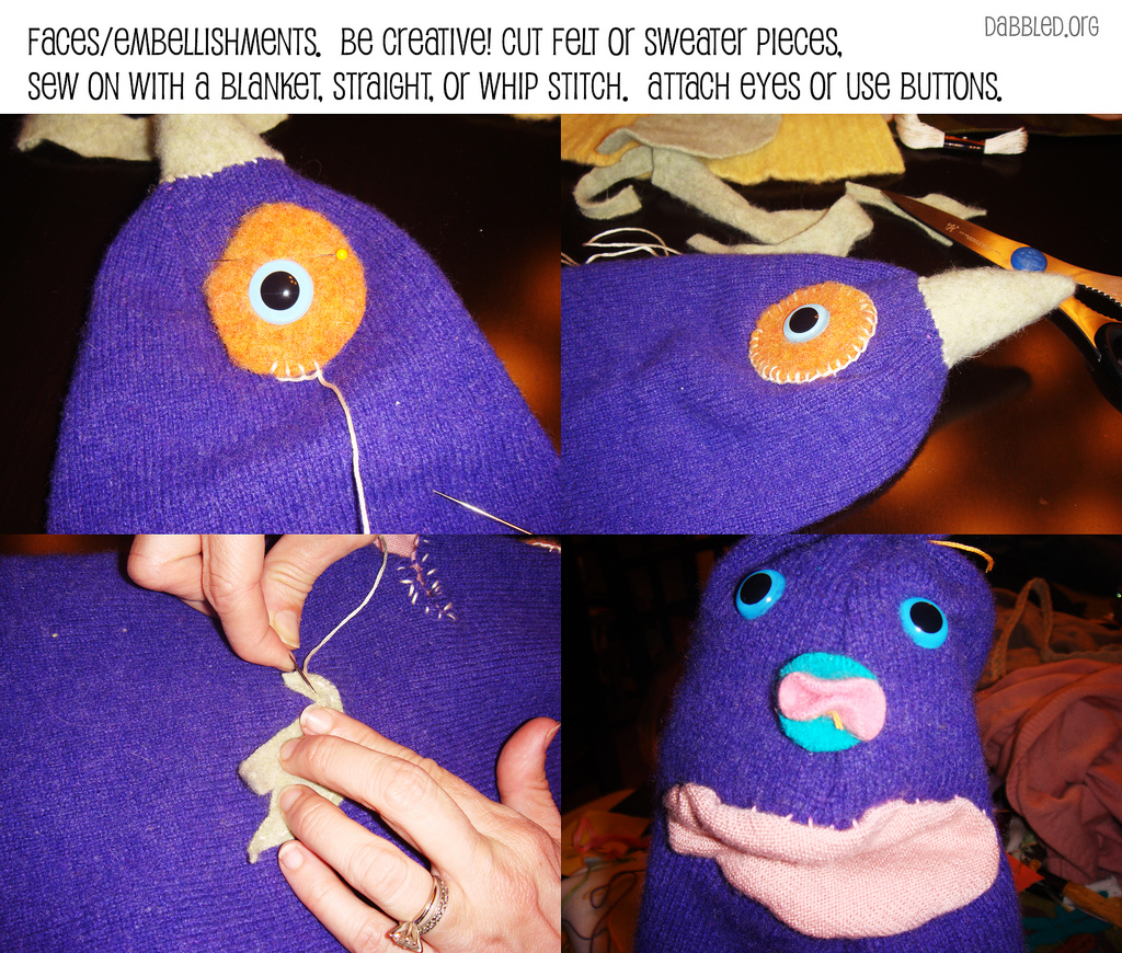Silly Sweater Puppet How-To