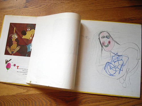 Inside of Brer Rabbit - and some of my early artwork!