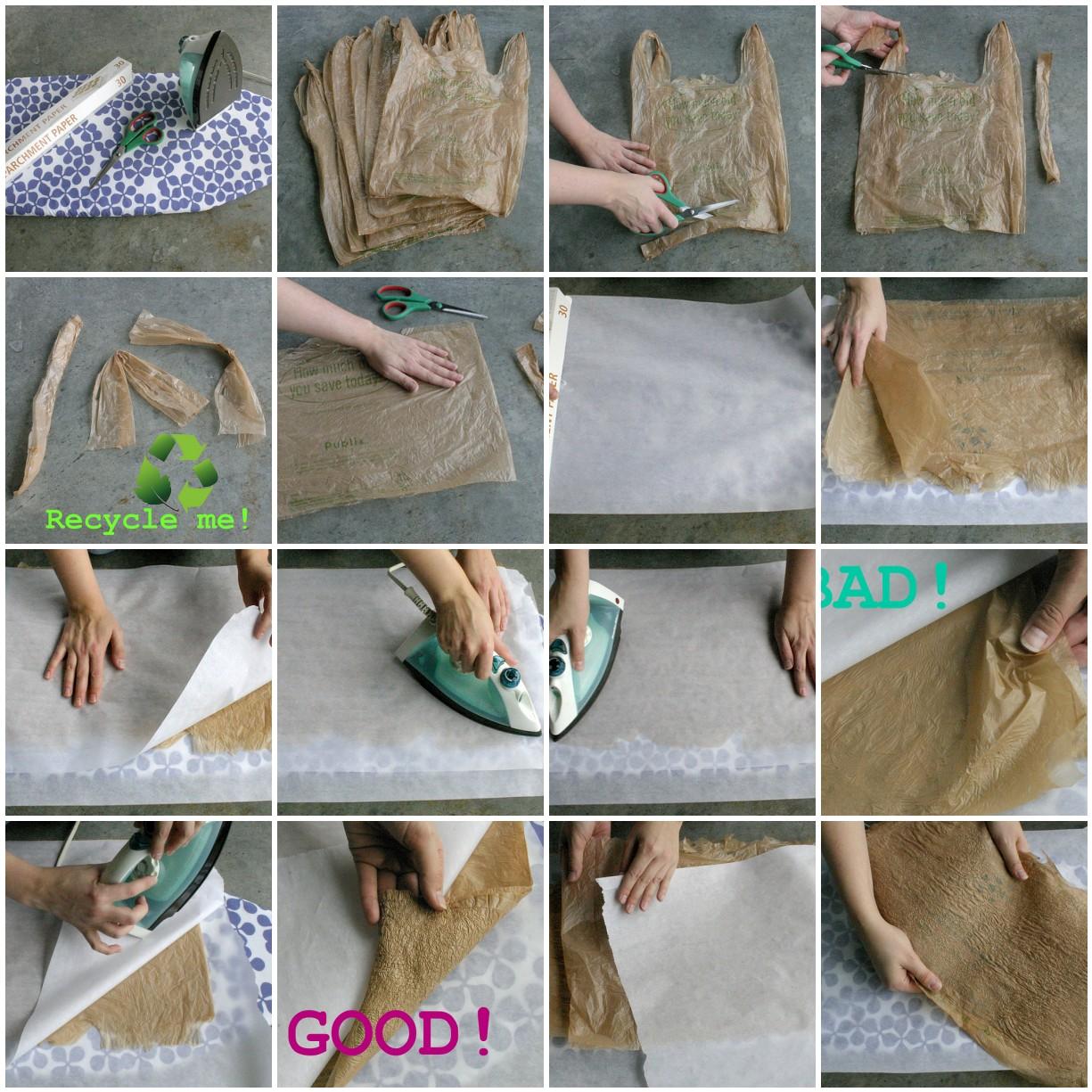 Plastic bag fusing tutorial by So She Sews