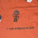Highlights from Proto-Dabbled: Robot T-shirt