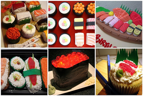 Sushi cake roundup for Dabbled.org