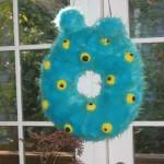 Halloween Craft - Monster Wreath