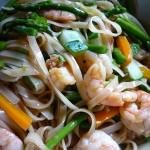 Shrimp and Asparagus Noodle Salad