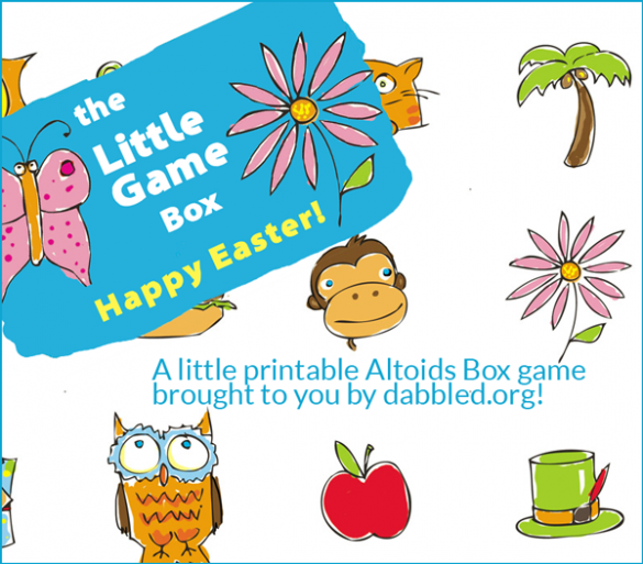 A printable altoids box game for Easter