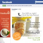New Facebook Landing page for Foodwhirl