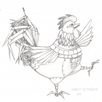 Illustration Friday: Launch (Rooster Sketch)