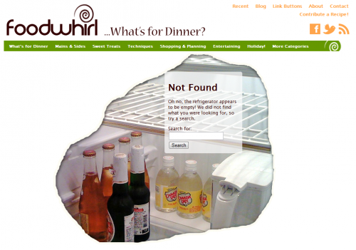 new foodwhirl 404 page