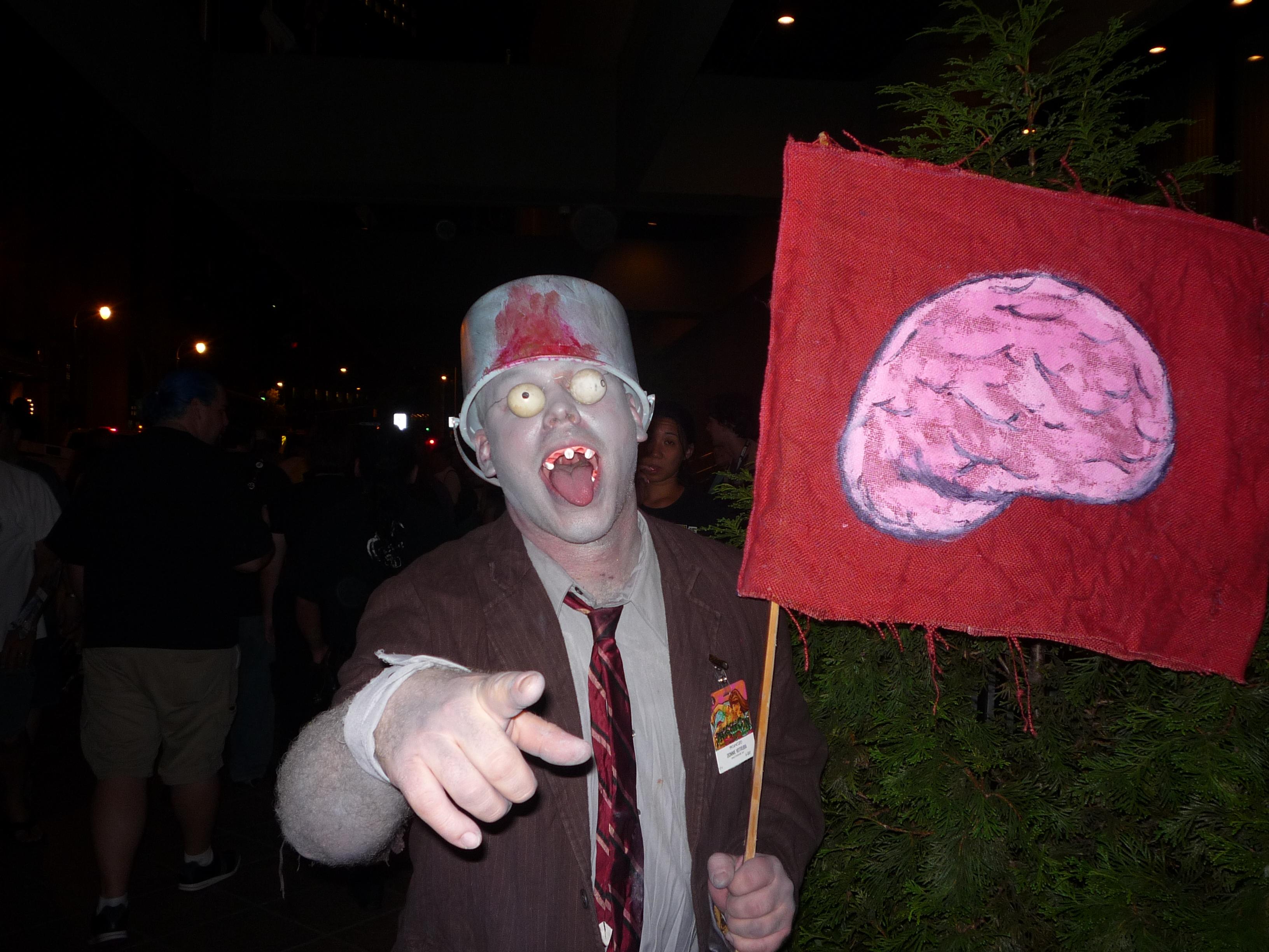 Buckethead zombie from plants vs zombies