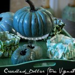 Dollar Store crackle pumpkins