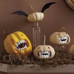 fanged vampire pumpkins