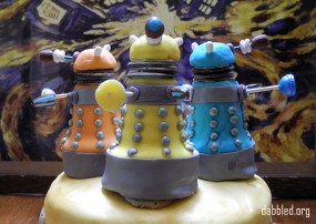 The Dalek Cake, from last year's Doctor Who party.