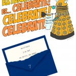 Dr. Who Birthday Party Invitation (downloadable template, too!)
