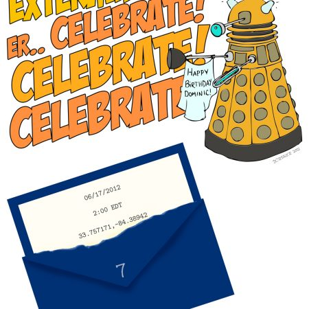 Dr. Who dalek birthday party invitation