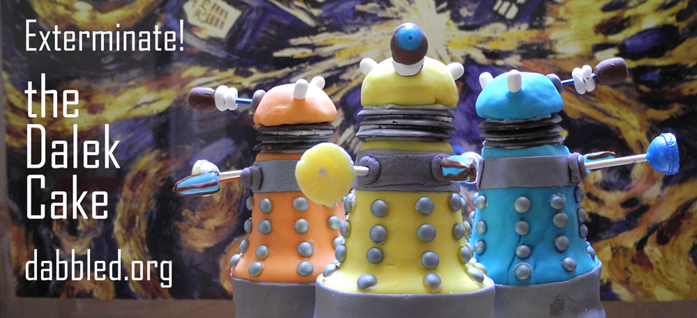 Tutorial How To Make The Doctor Who Dalek Cake Dabbled