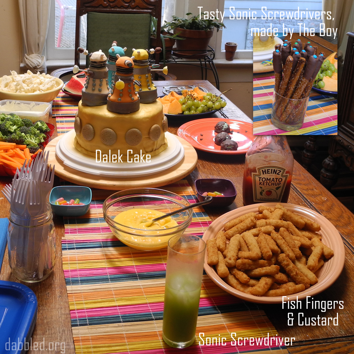 Download this Party Food Who Dalek picture