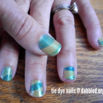 how to paint your nails in a funky tie dye way