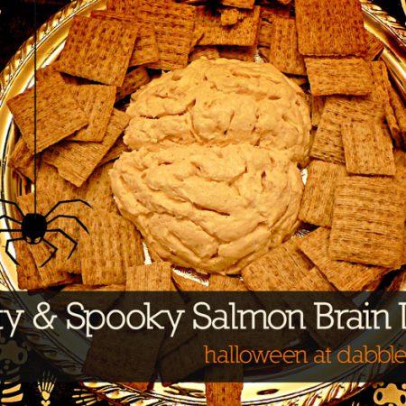 how to make salmon 'brain' dip for halloween