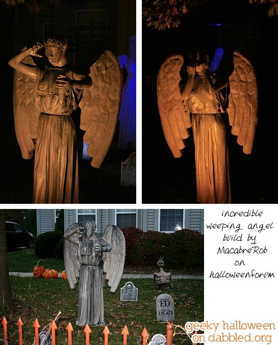 Geeky Halloween on Dabbled: Dr Who Weeping Angels Homemade