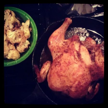 Roasted Chicken Cast Iron with Roasted Cumin Cauliflower