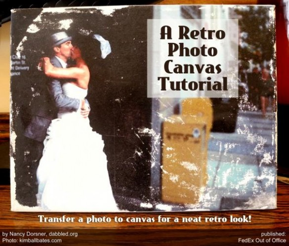 how to make your own Retro photo canvas - tutorial