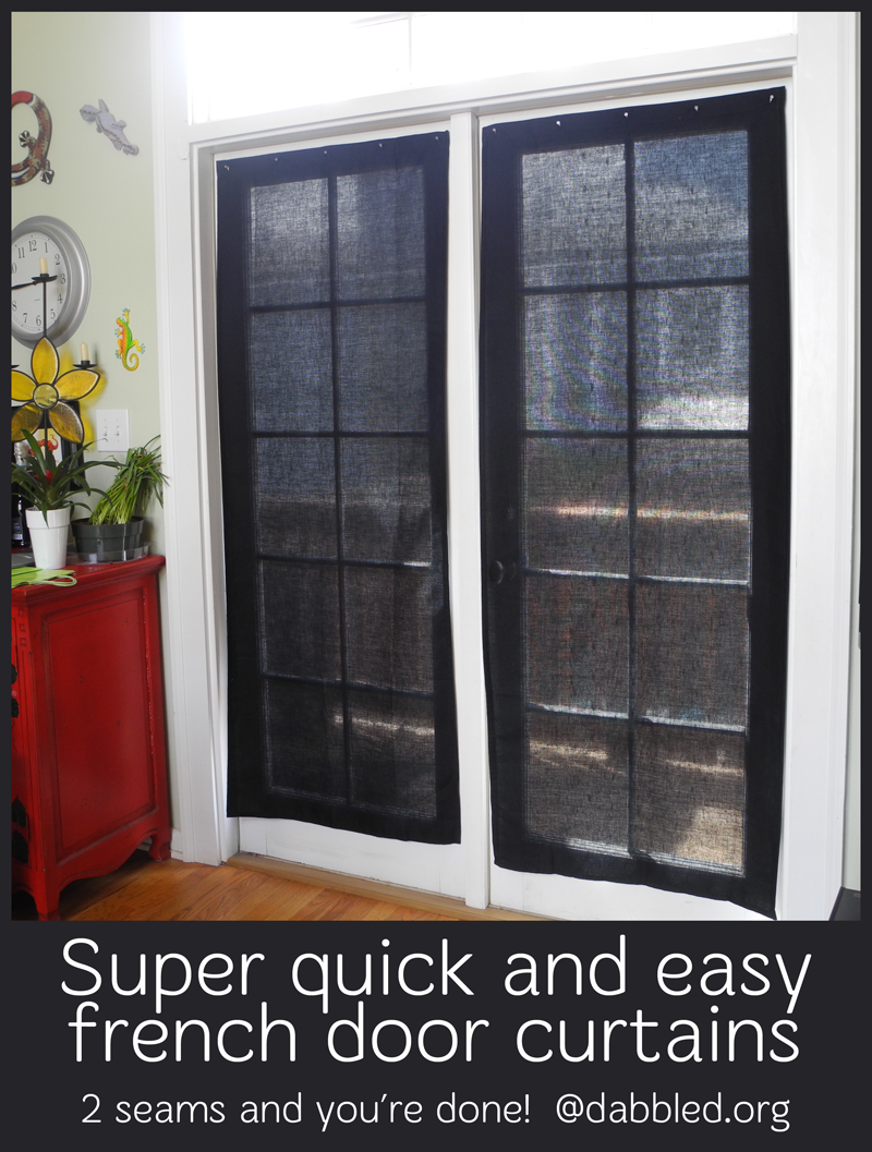 tutorial super easy inexpensive french door curtains
