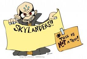 Download blank Skylanders Kaos invitation from Dabbled.org