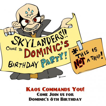Kaos Skylanders Party Invitation (printable)