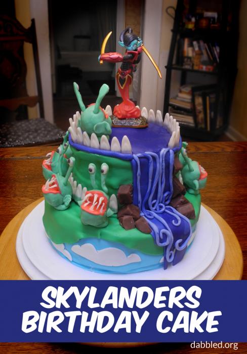 Skylanders Chompie Birthday Cake